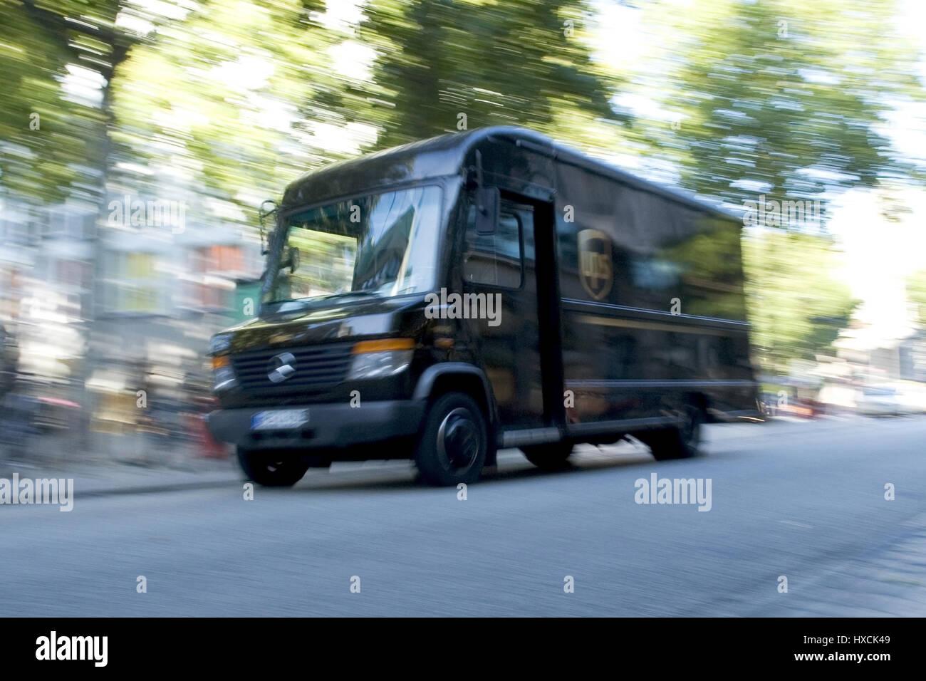 UPS Delivery vans, UPS Lieferwagen Stock Photo