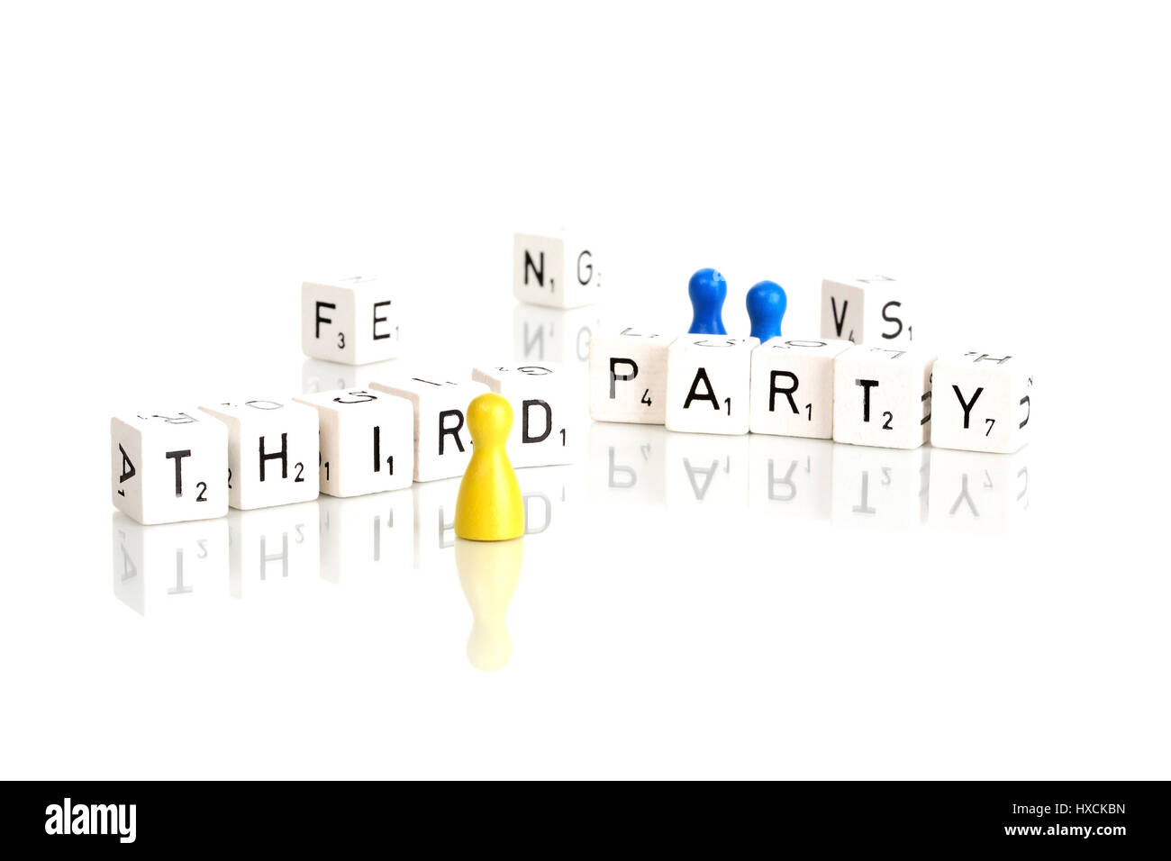 Third party, Third Party - Stock Image