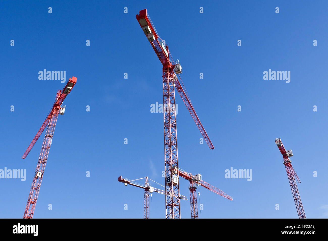 Construction cranes, Baukraene - Stock Image