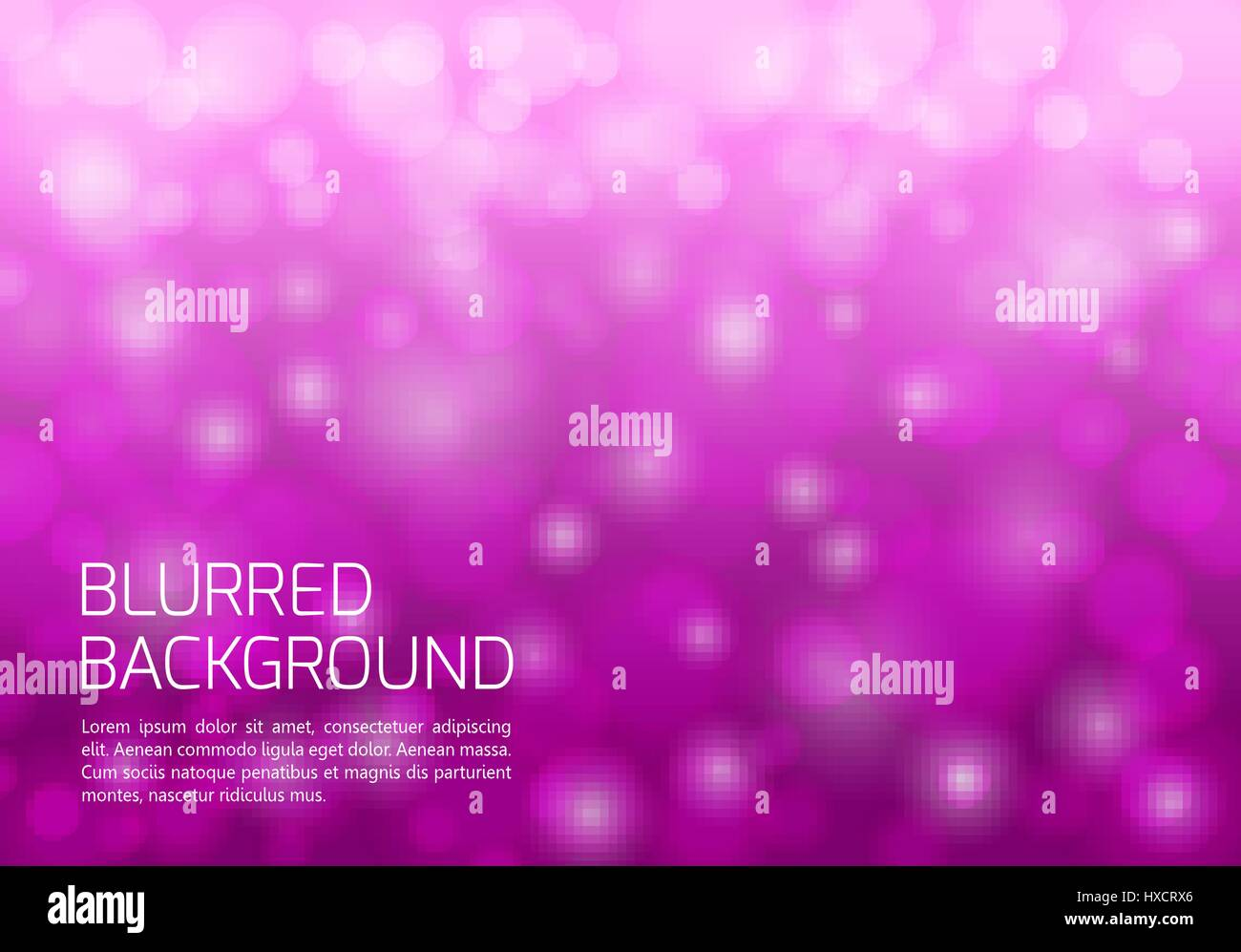 Pink blurred background with twinkly lights - Stock Vector