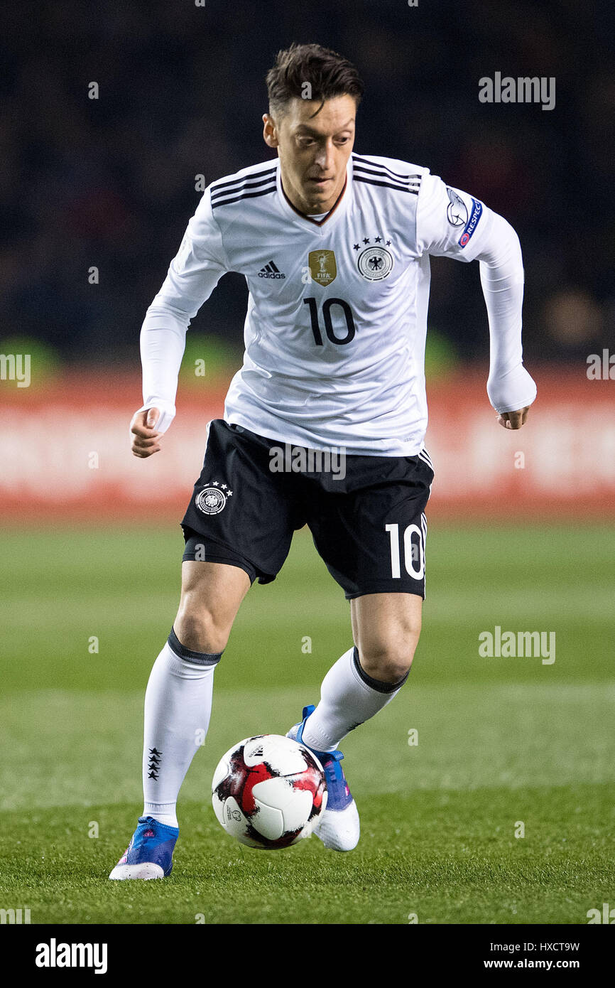 Baku, Azerbaijan. 26th Mar, 2017. Germany's Mesut Oezil in action during the FIFA World Cup qualifier group phase soccer match between Azerbaijan and Germany in Baku, Azerbaijan, 26 March 2017. Photo: Marius Becker/dpa/Alamy Live News Stock Photo