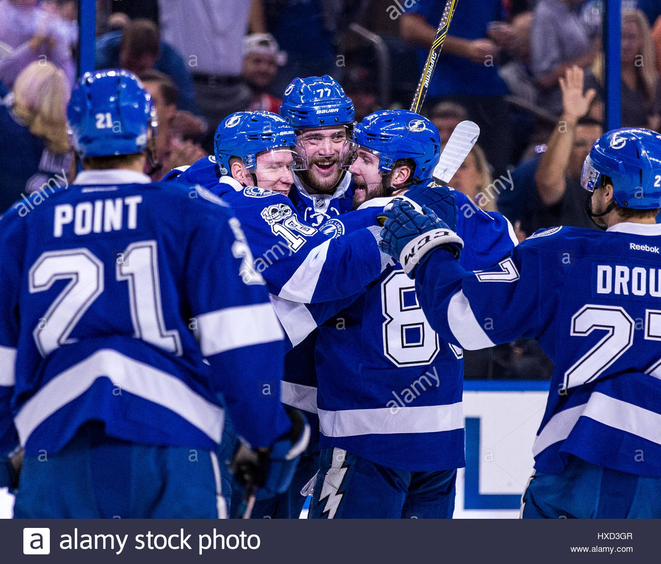 tampa florida usa 27th march 2017 tampa bay lightning left wing