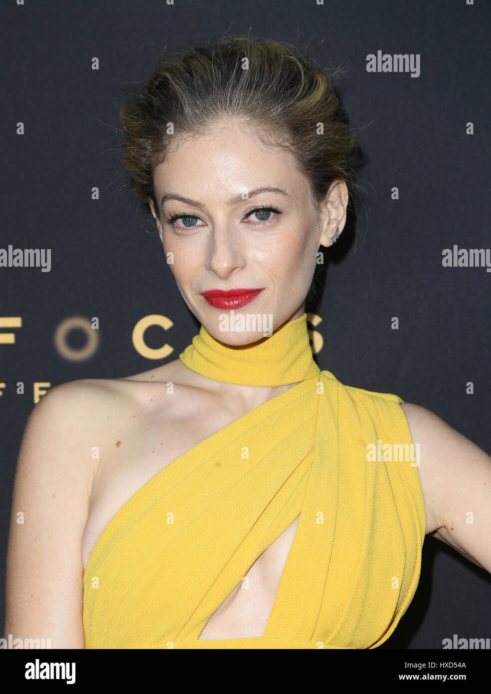 Hollywood, Ca. 27th Mar, 2017. Efrat Dor, At The Premiere Of Focus Features' 'The Zookeeper's Wife' - Stock Image