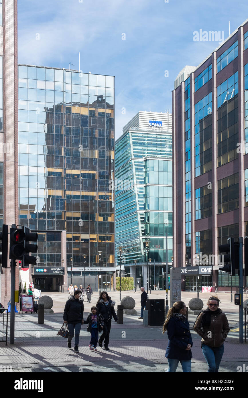 Office buildings at Snow Hill in Colmore Row, Birmingham Stock Photo