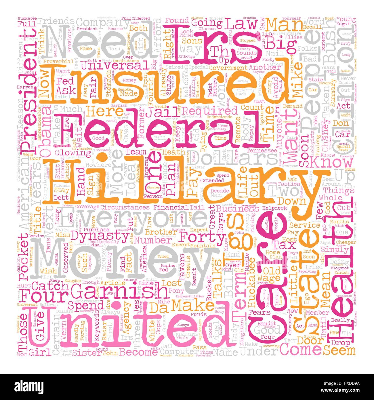 IRS Welcomes Hillary s IGS text background wordcloud concept - Stock Vector