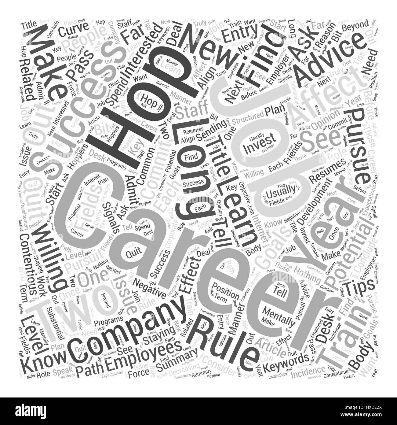 Job hopping How It Affects Your Career Success Word Cloud Concept Stock Vector