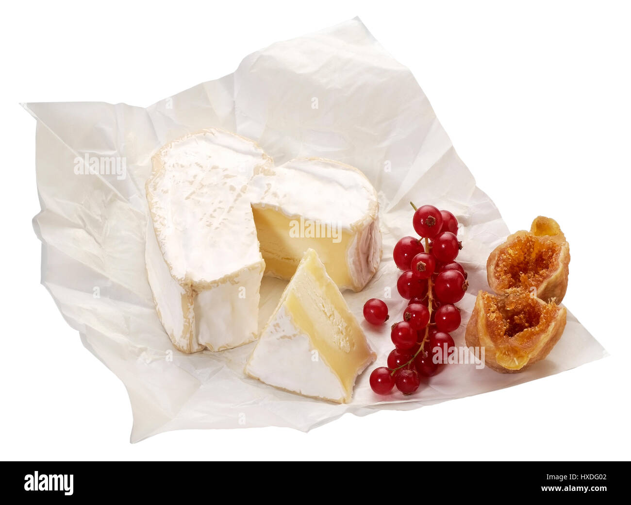 Traditional French Neufchatel cheese - Stock Image