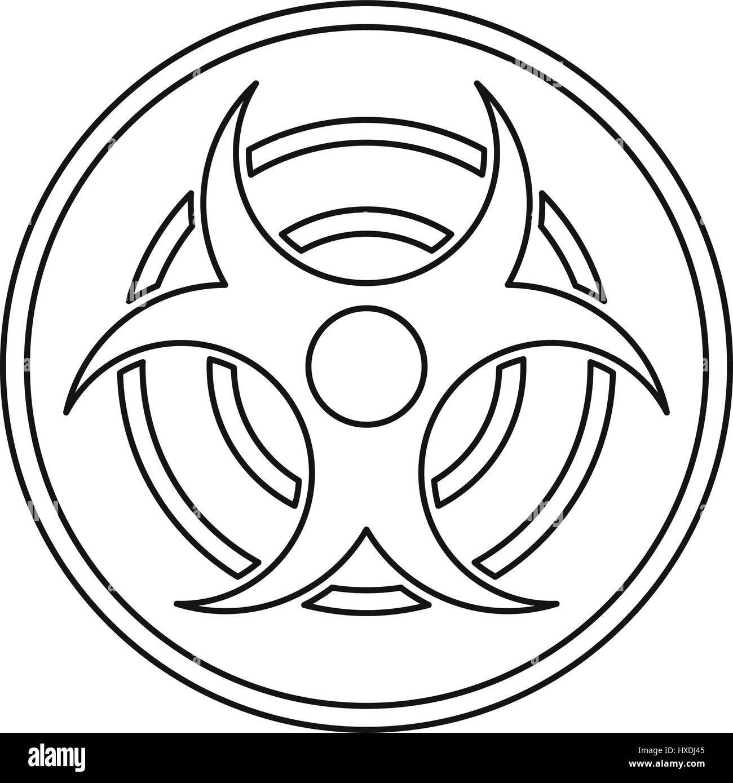 Biohazard Symbol Black And White Stock Photos Images Alamy