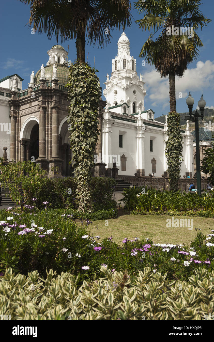 Equador, Quito, Plaza Grande with Cathedral - Stock Image