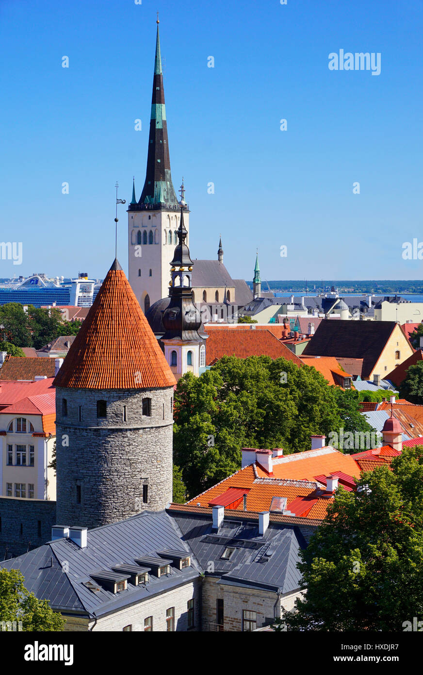Tallinn, Estonia, steeples and towers. - Stock Image