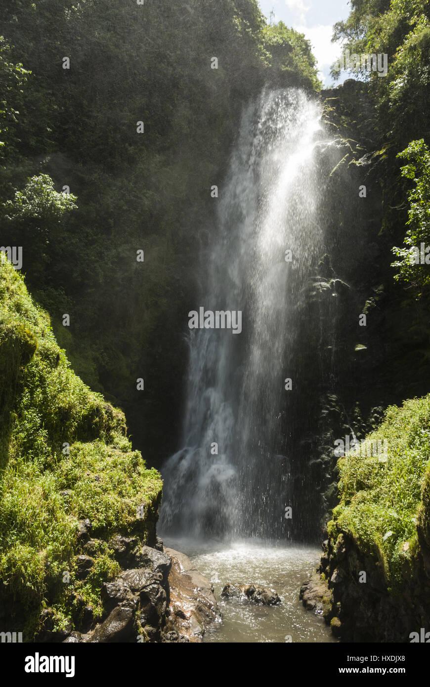 Ecuador, Otavalo, Cascada de Peguche waterfall - Stock Image