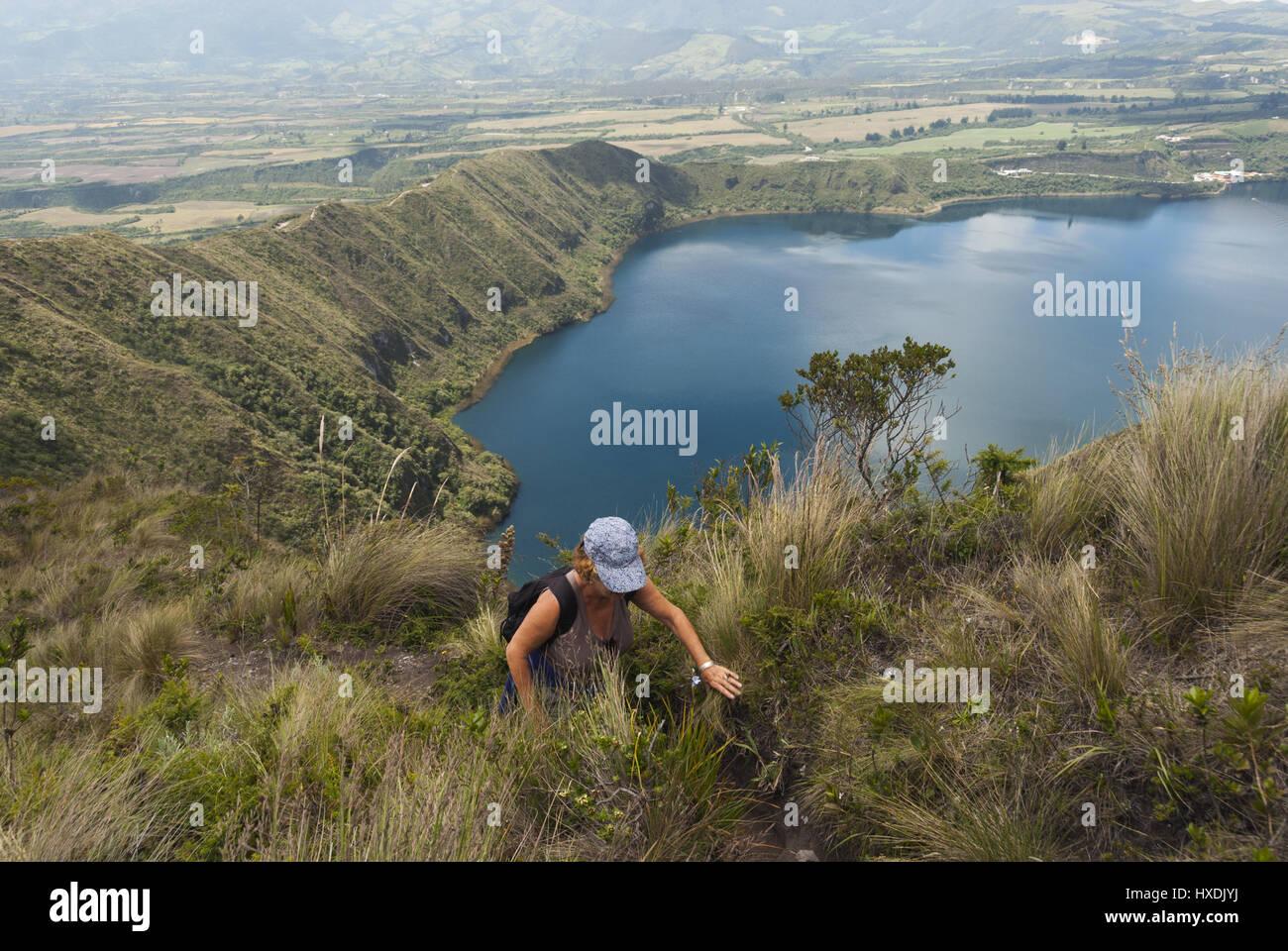 Ecuador, Cotacachi, Laguna Cuicocha lake Stock Photo