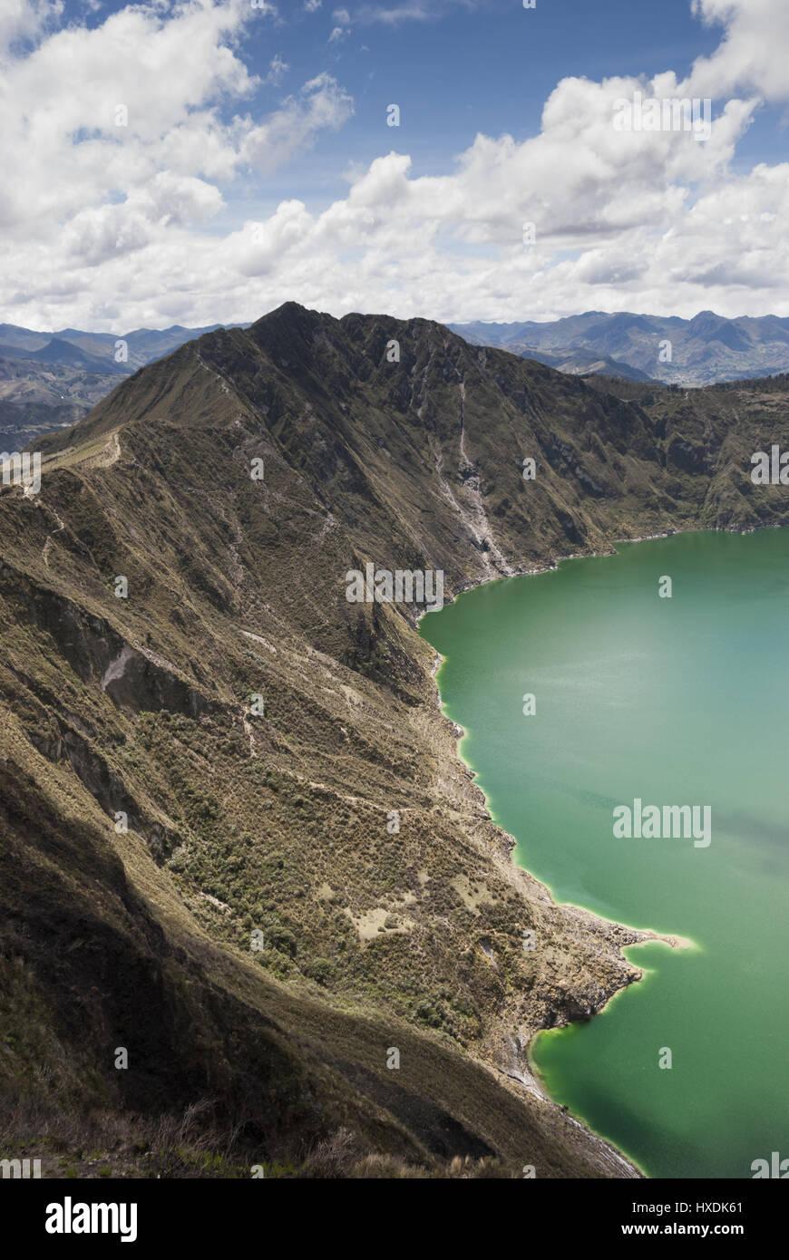 Ecuador, Quilitoa, Crater Lake - Stock Image