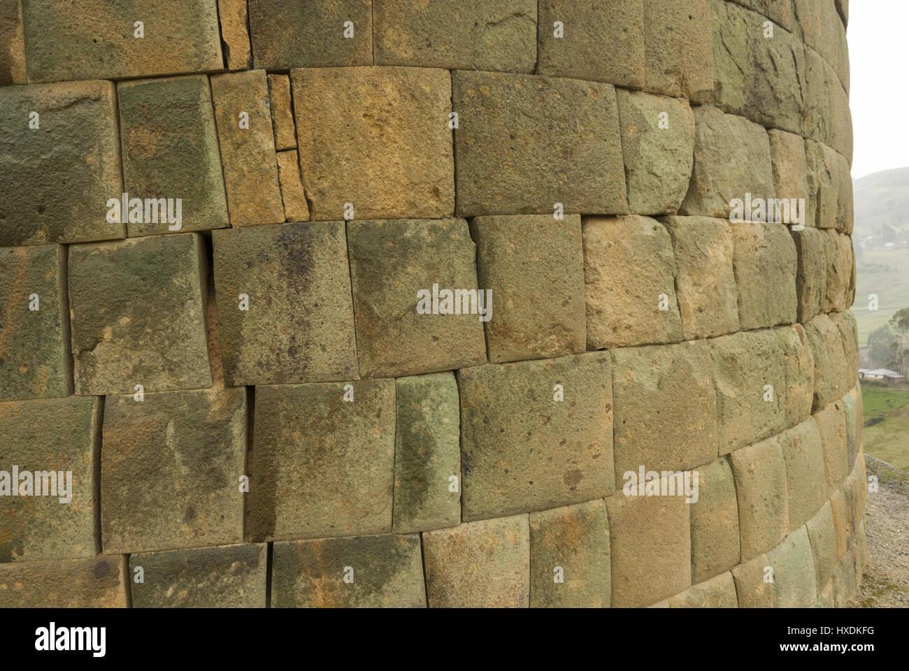 Ecuador, Cuenca, Ingapirca Inca site, stonework - Stock Image
