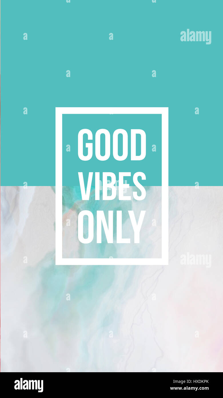 Good Vibes Only Motivational Quote On Abstract Liquid Background