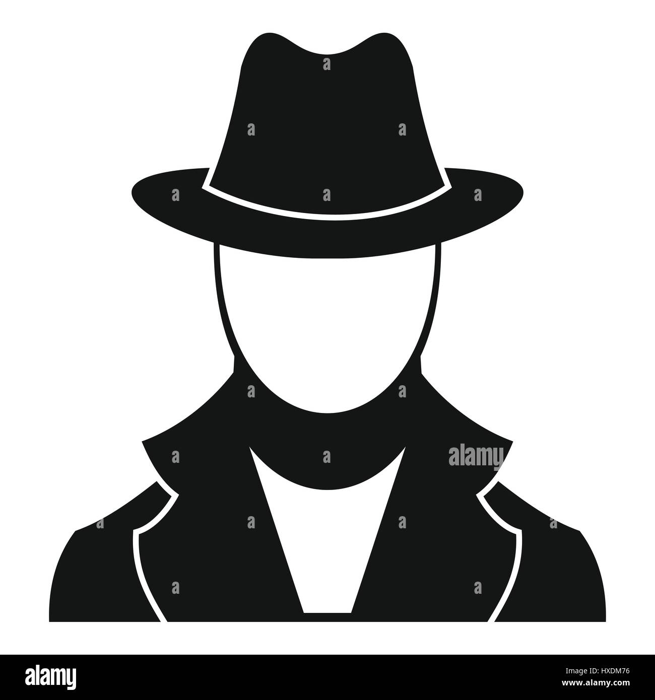 Spy icon, simple style - Stock Image
