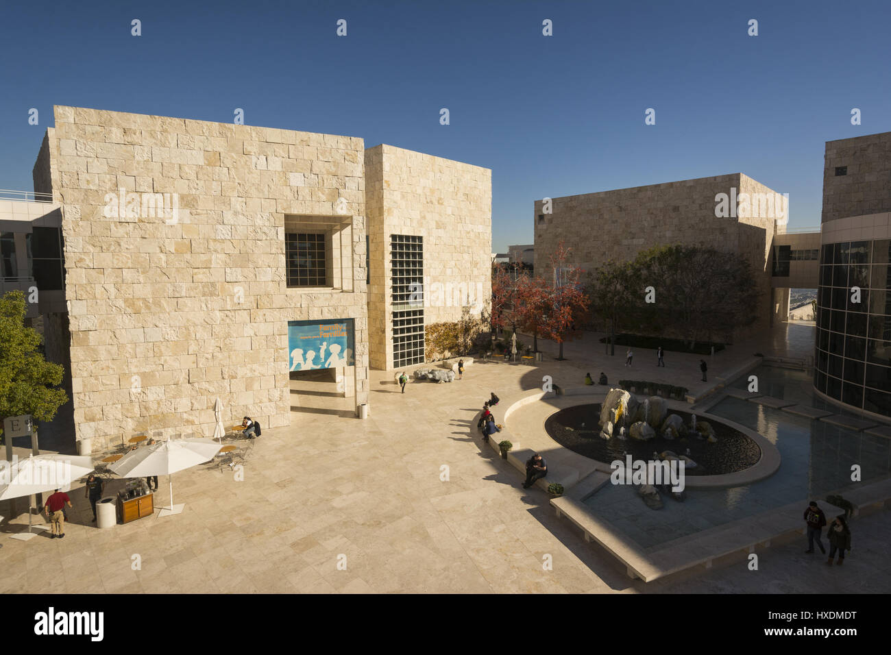 California, Los Angeles, Getty Center exterior and grounds - Stock Image