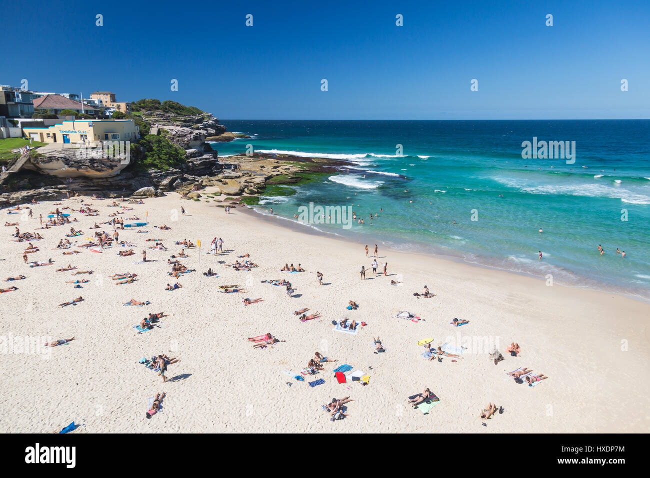 A beautiful autumn day at Tamarama Beach, Sydney, Australia. - Stock Image