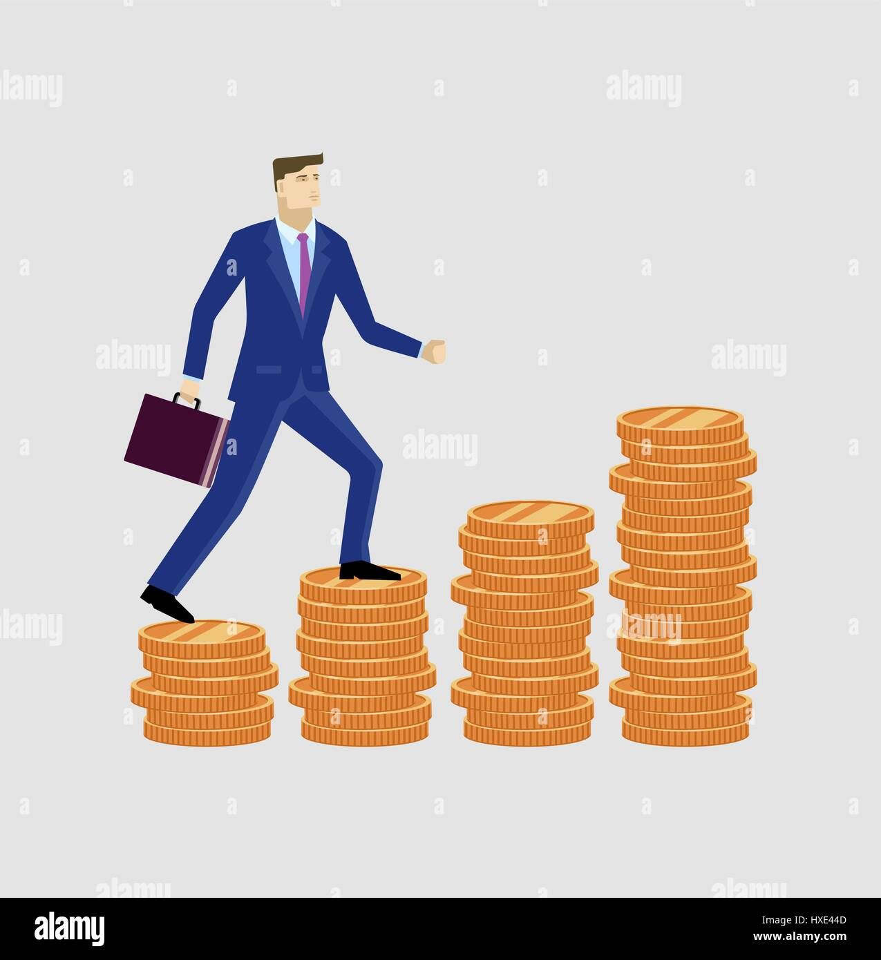Businessman up the money - Stock Vector