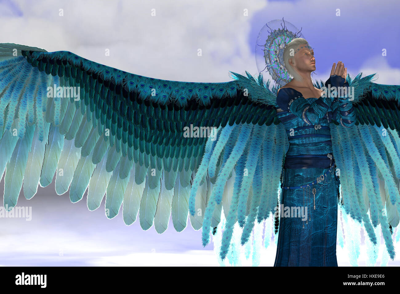 Archangel Michael is a messenger sent by God to speak to people on Earth and leads God's armies against the - Stock Image