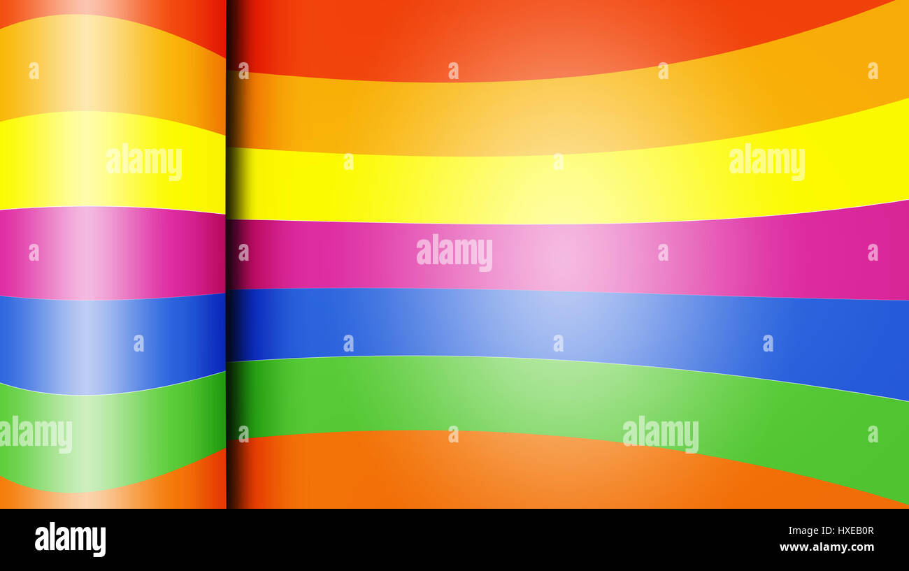 Glossy colorful paper abstract design background - Stock Image