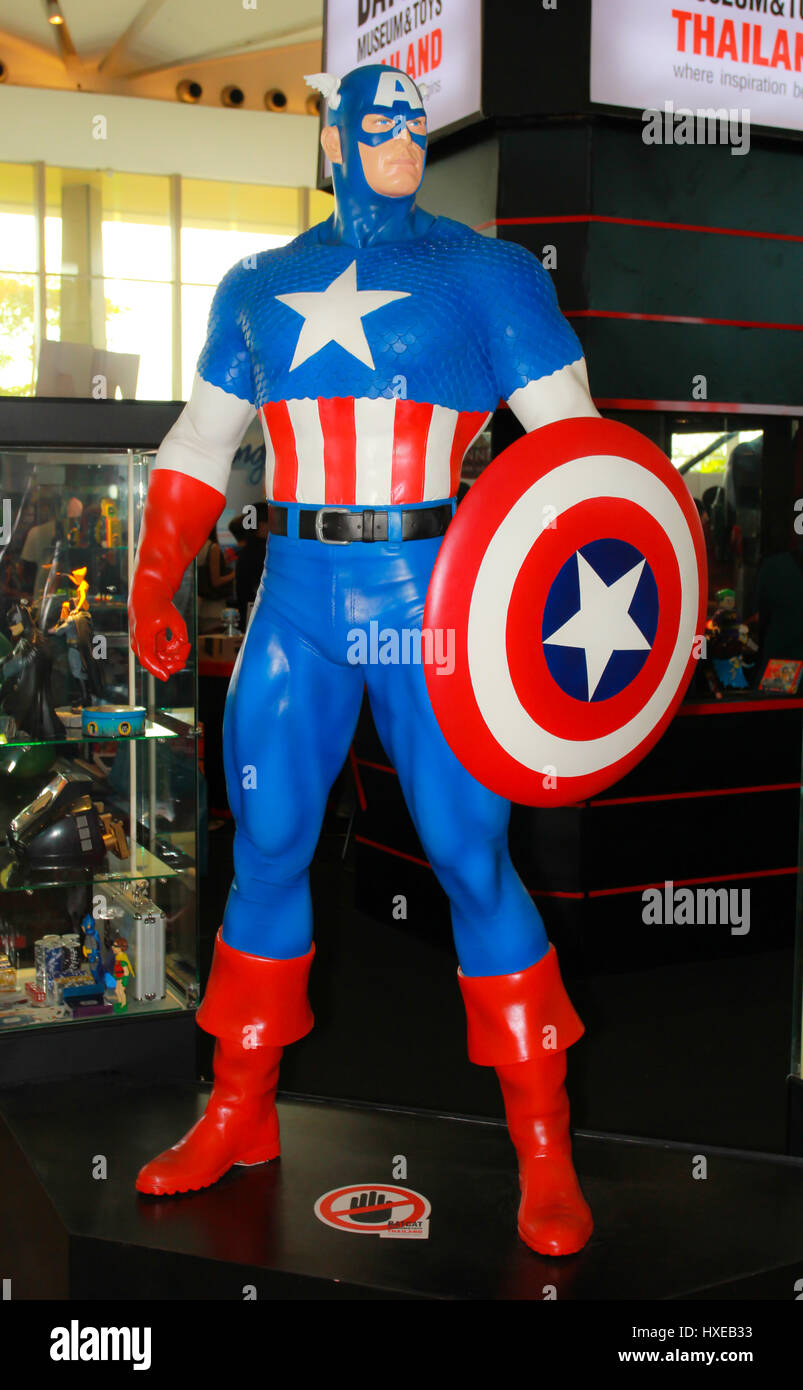 11: A Captain America model in Thailand Comic Con 2014 on