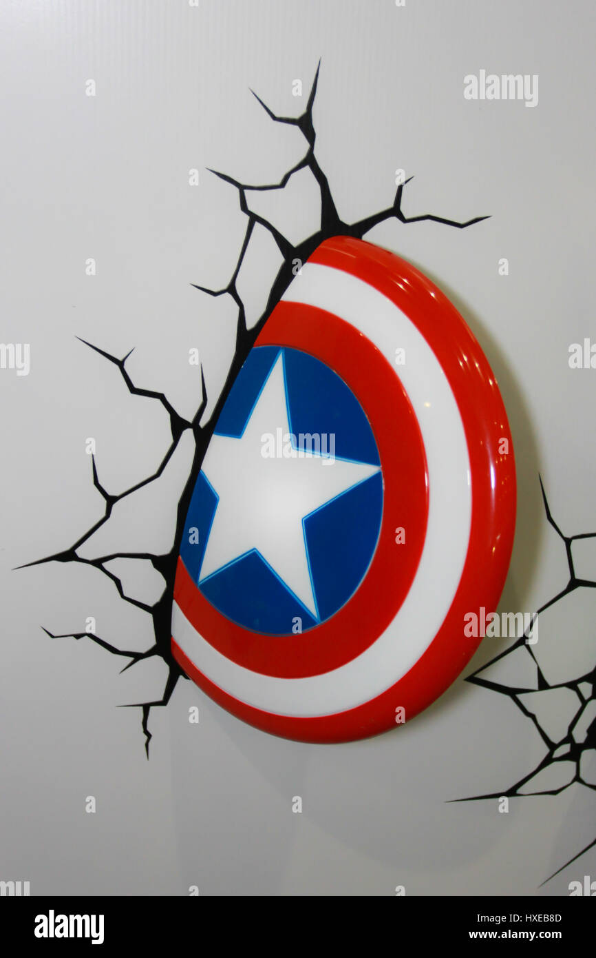 11: A Captain America Shield model in Thailand Comic Con 2014