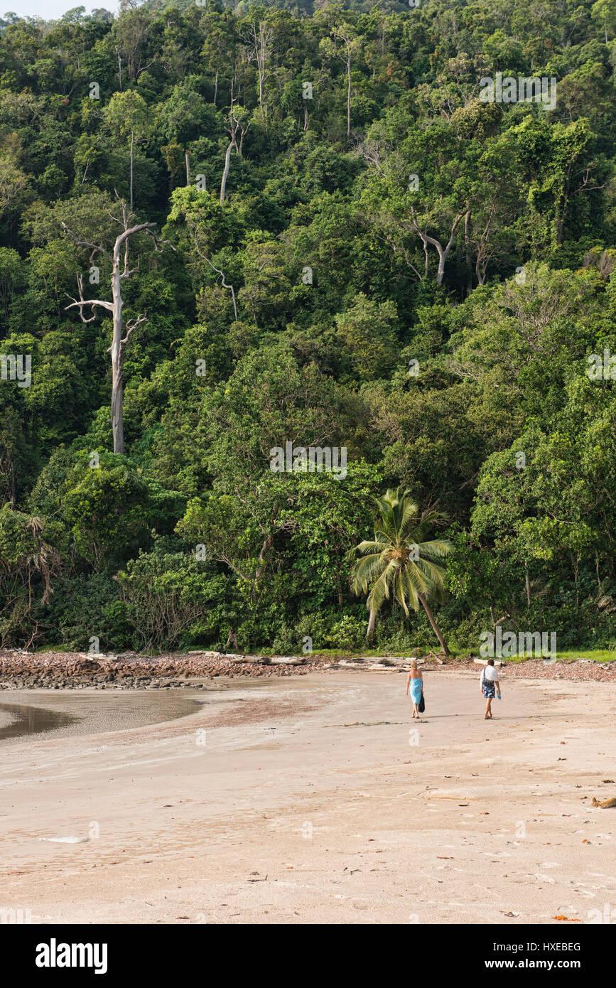 Solitude on pristine Ao Son beach, Ko Tarutao Island, Thailand - Stock Image