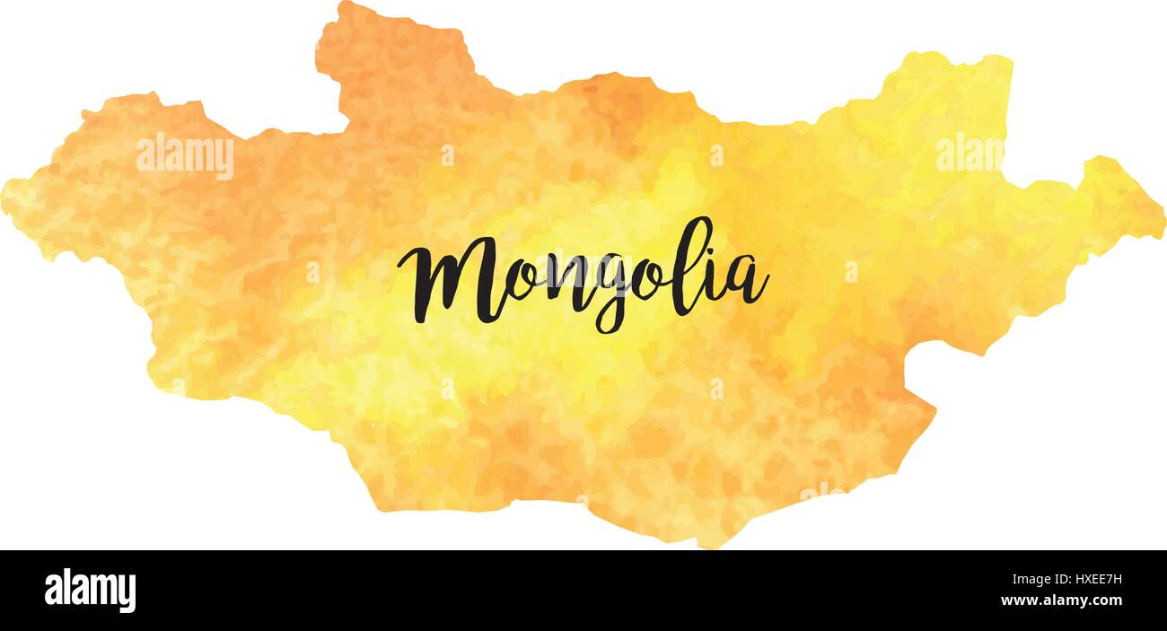 Abstract Mongolia map - Stock Vector