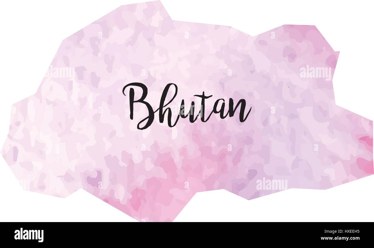Abstract Bhutan map - Stock Vector