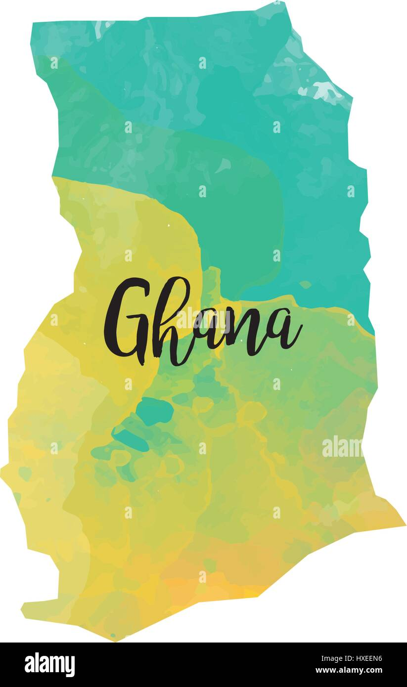 Abstract Ghana map Stock Vector Art & Illustration, Vector Image ...