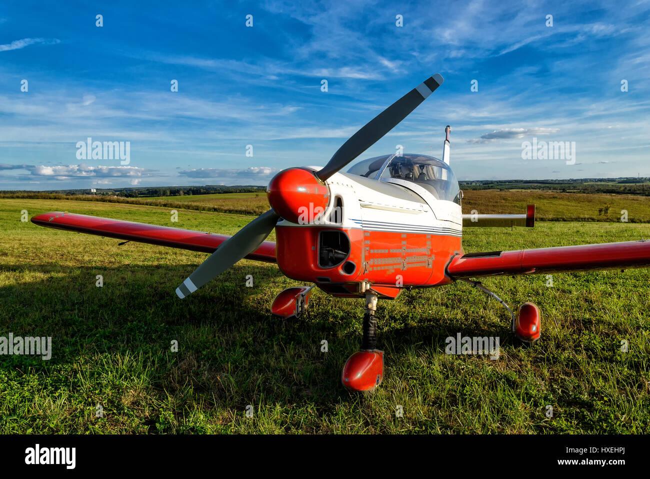 light aircraft - Stock Image