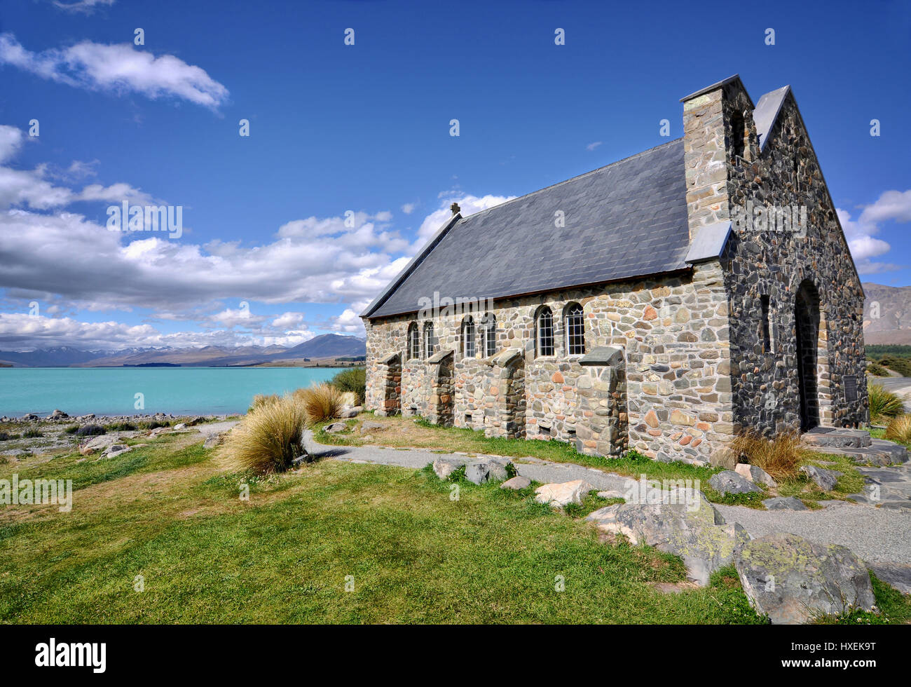 Church of the Good Shepherd, Lake Tekapo, New Zealand - Stock Image