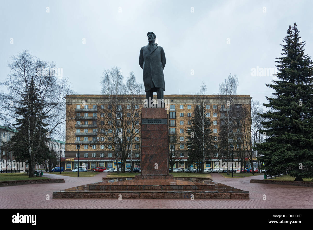 Monument to the Russian revolutionary M.I. Kalinun in the city of Minsk (Belarus) - Stock Image