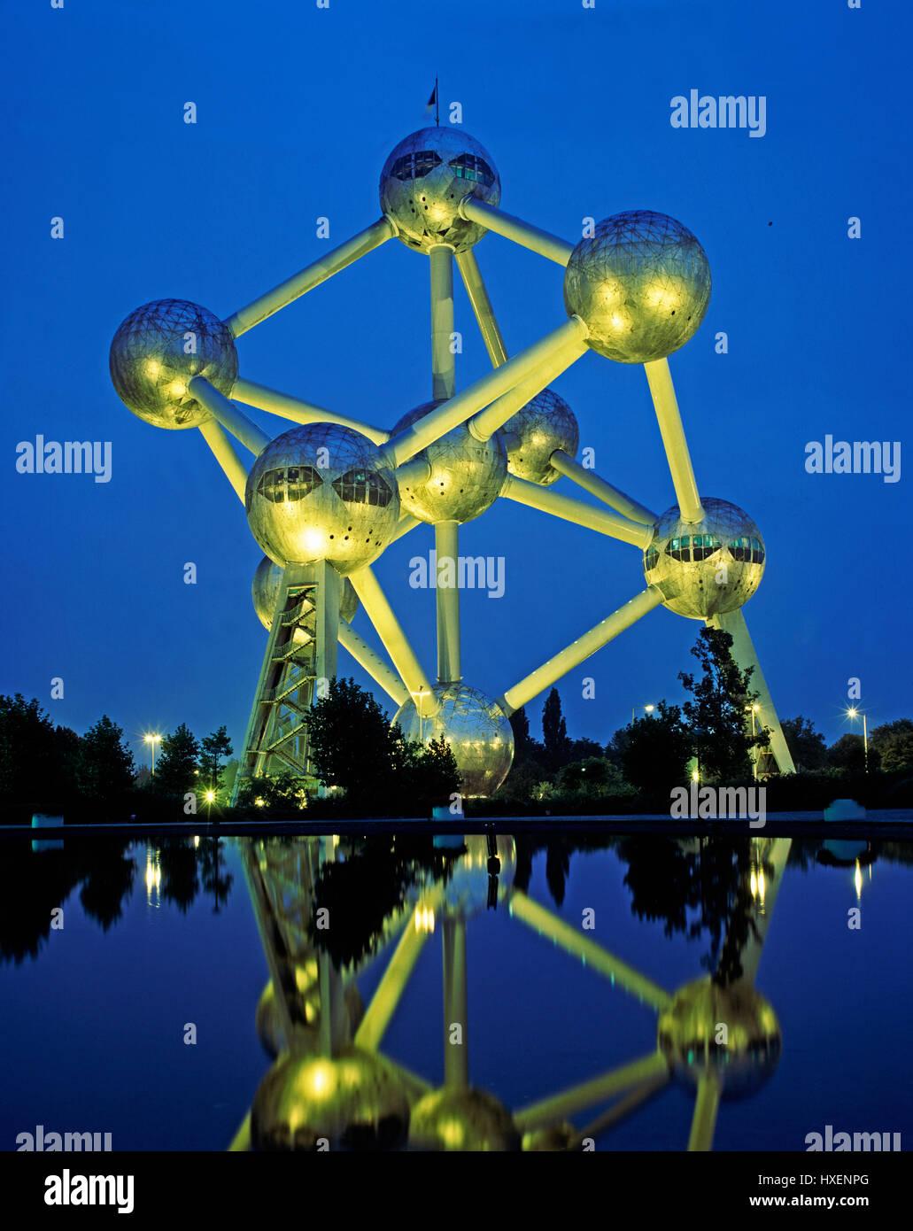 The Atomium, Brussels, Belgium. - Stock Image