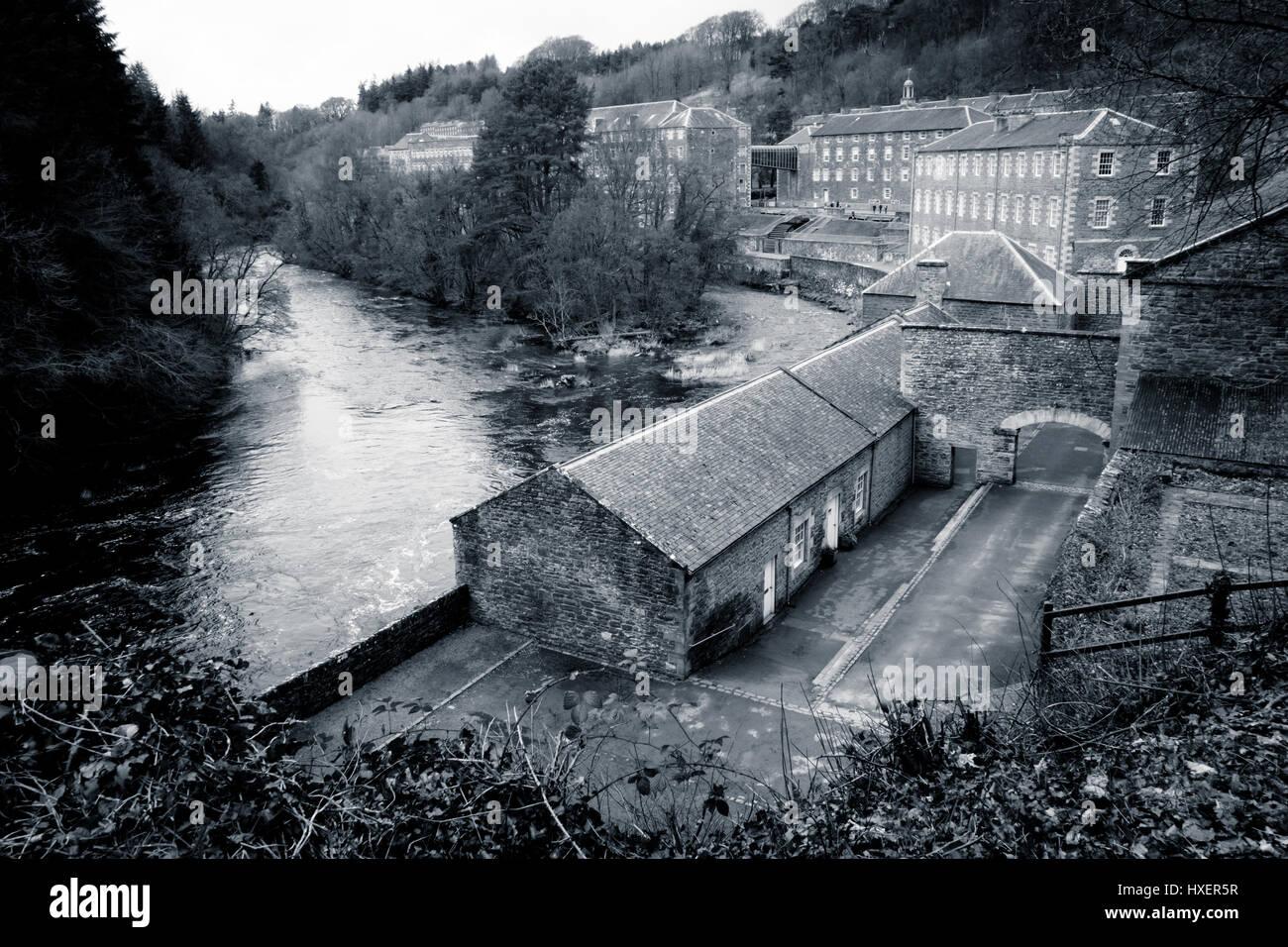 New Lanark Cotton Mills - Stock Image
