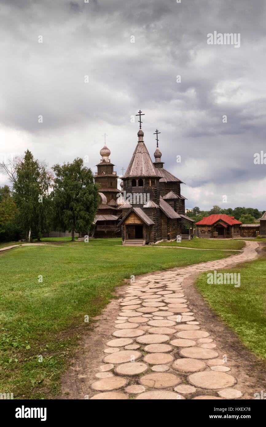 Wooden Church in Suzdal in summer - Stock Image