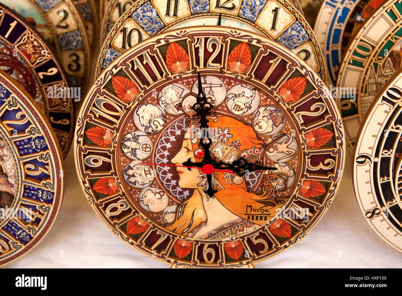 Clocks, Prague, Czech - Stock Image