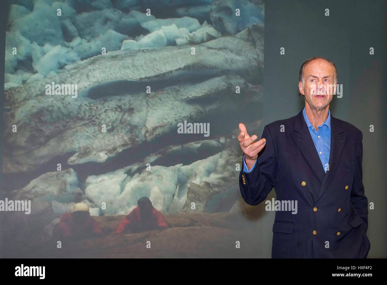 Sir Ranulph Fiennes. - Stock Image