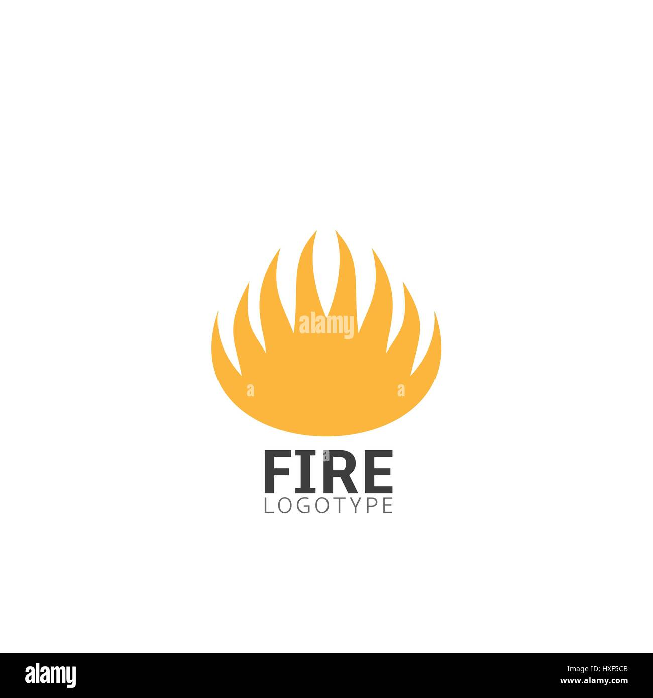 Fire logo sign - Stock Image