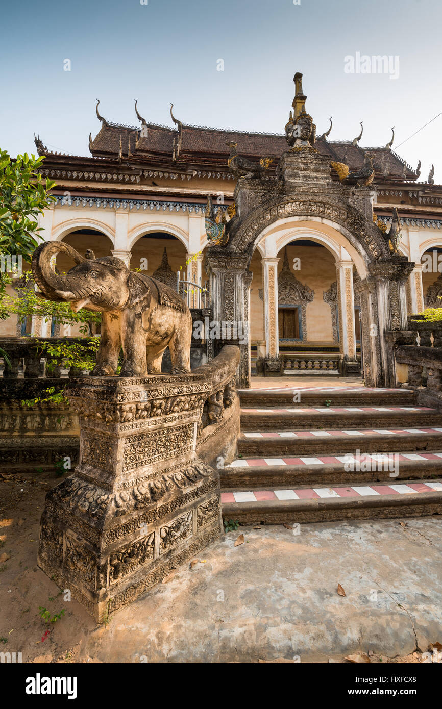 Exterior of the Wat Bo temple in the Siem Reap, Cambodia. - Stock Image