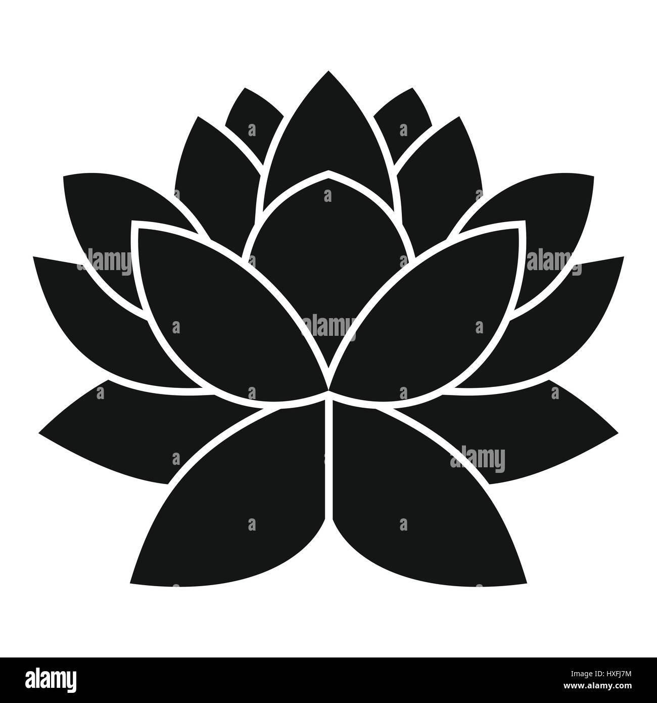 Lotus Flower Icon Simple Style Stock Vector Art Illustration