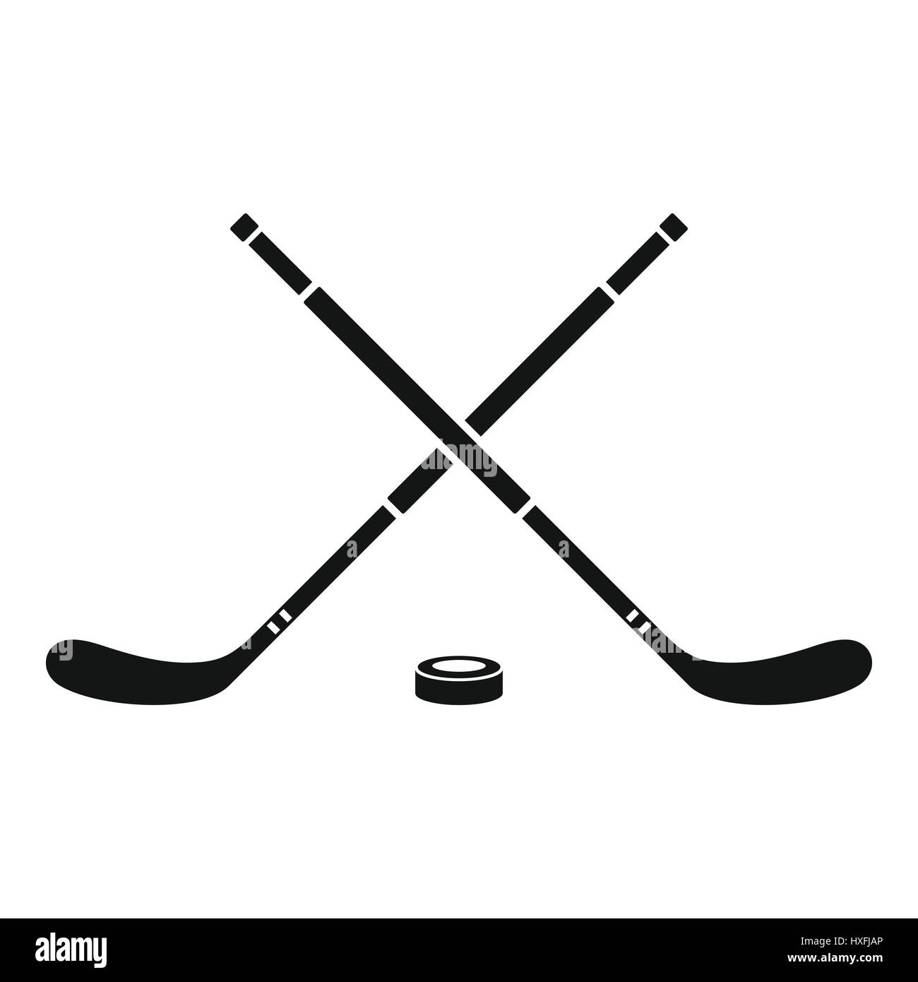 Hockey icon, simple style - Stock Vector