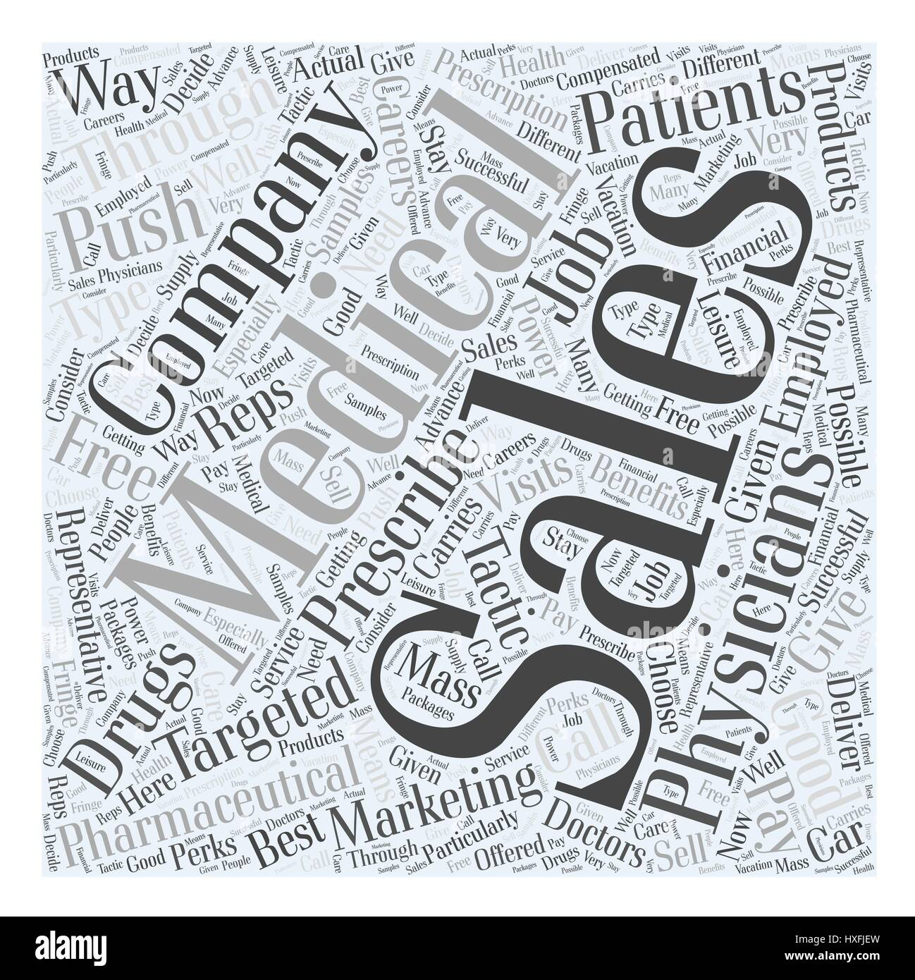 medical supply sales careers word cloud concept stock vector