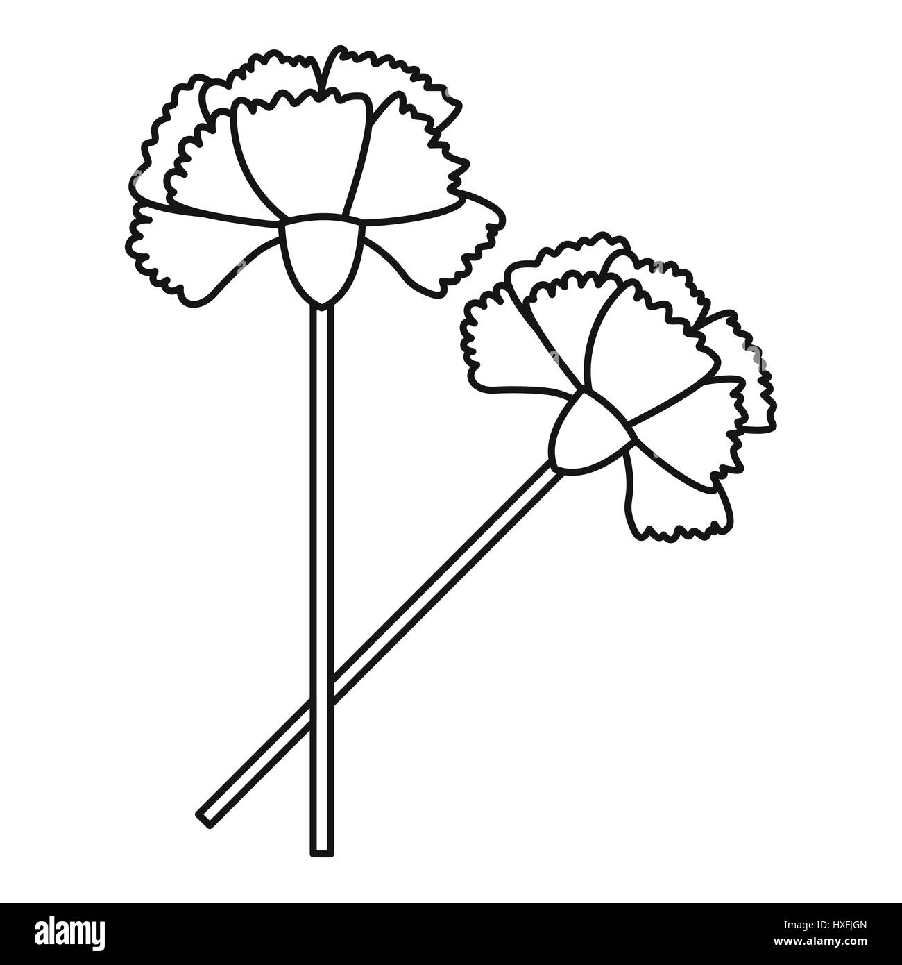 carnation icon, outline style stock vector image & art - alamy  alamy