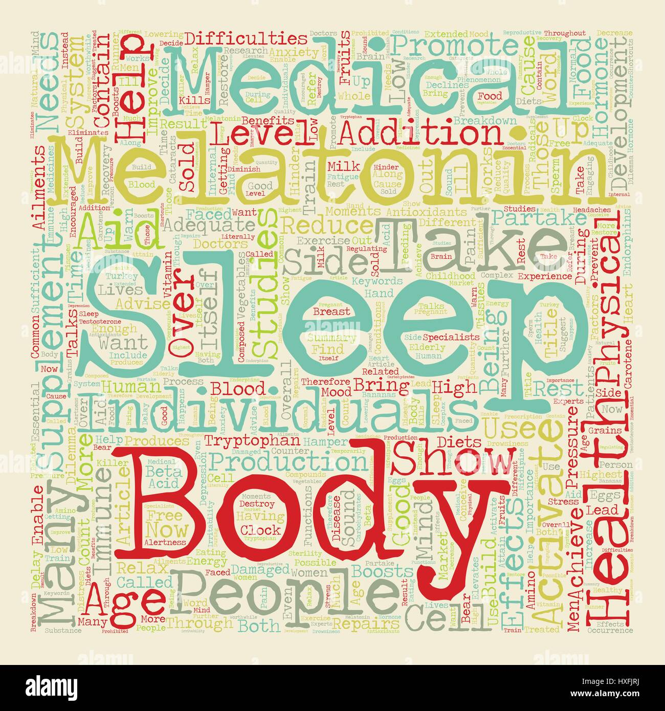 Melatonin To Take or Not to Take text background wordcloud concept - Stock Vector