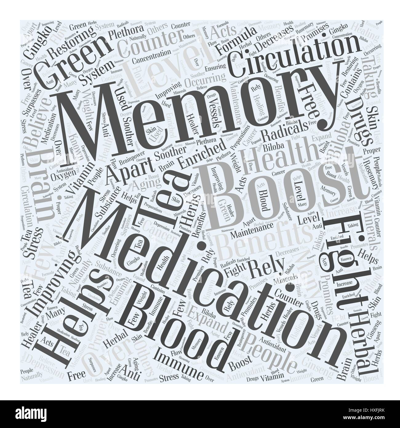Memory And Your Health Word Cloud Concept - Stock Image
