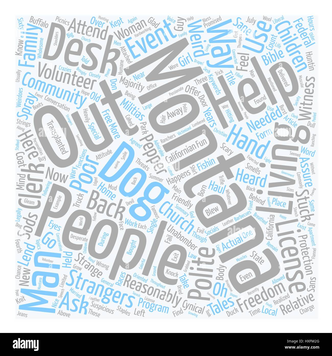 Montana People Weird In Their Own Special Way text background wordcloud concept - Stock Vector