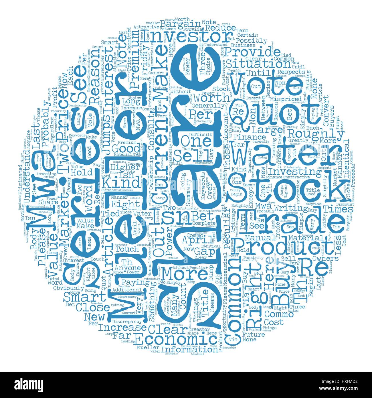 Mueller Water Products quot a quot And quot b quot Shares