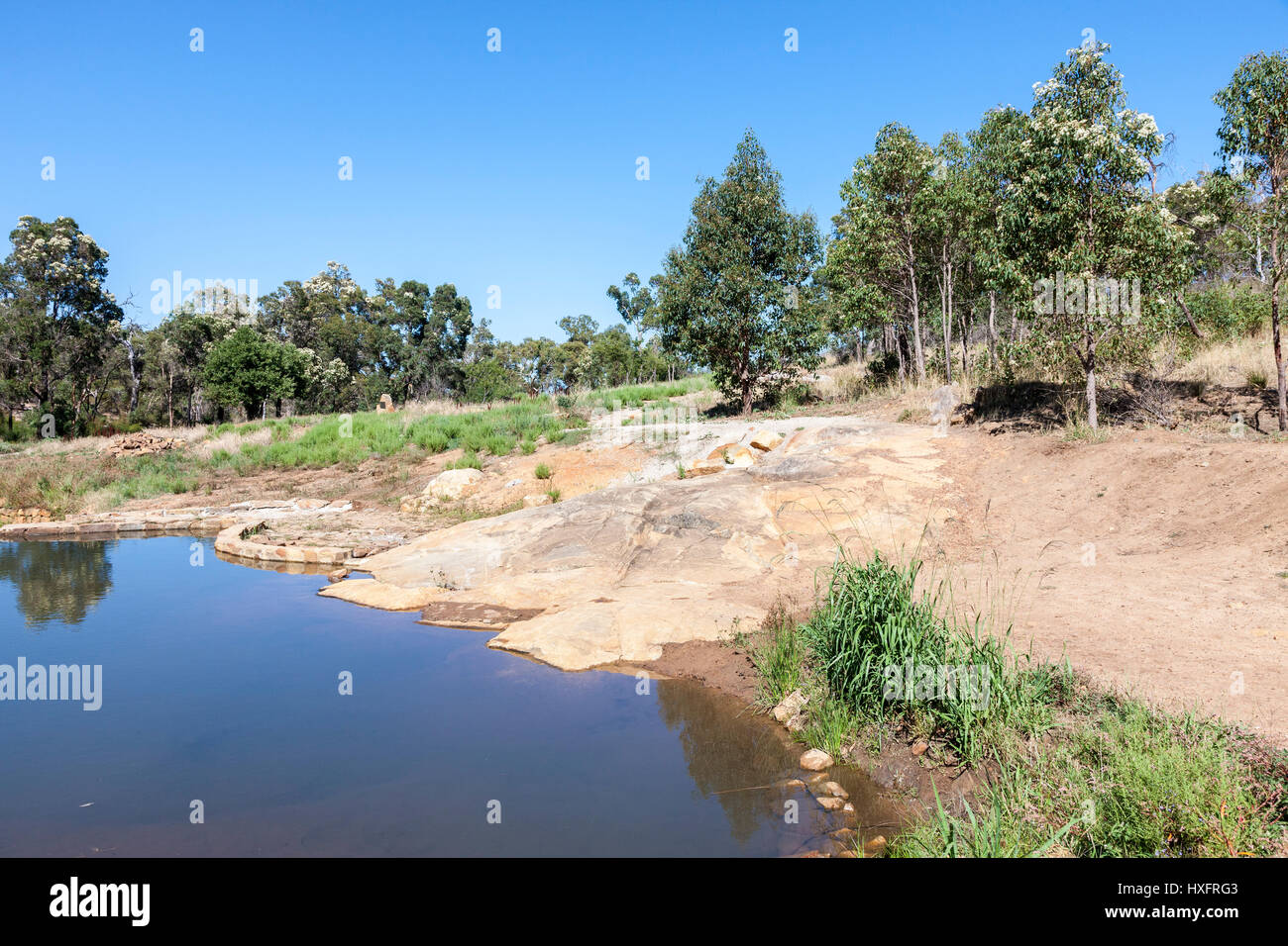 Peth, Western Austrlia, a pool in Lesmurdie National Park near the head of the falls. - Stock Image